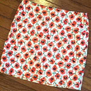 J Crew Flower Mini Skirt Size 00